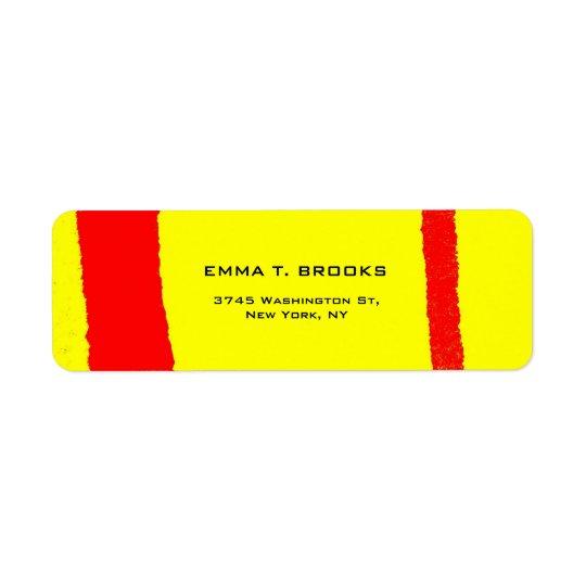 Étiquette Minimaliste simple moderne élégant rouge jaune