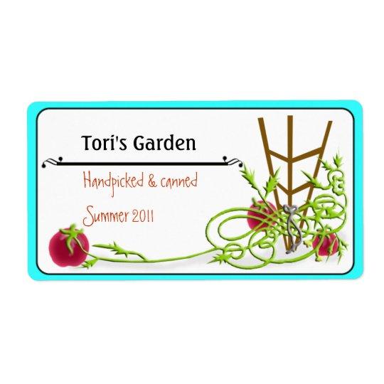 Étiquette mise en boîte de tomate