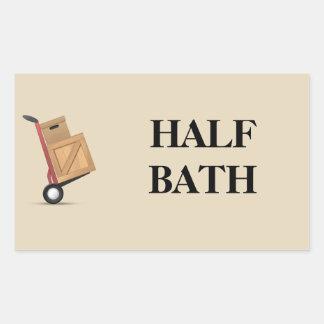 Étiquette mobile de boîte - demi de Bath