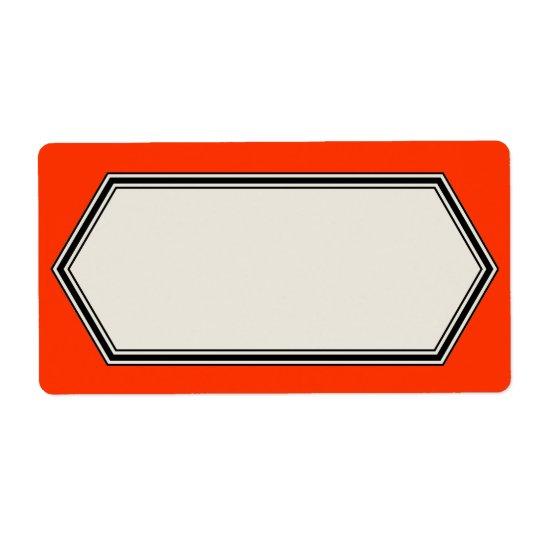 Étiquette Modèle vintage d'étiquette de frontière, rouge de