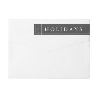Étiquette moderne gris personnalisable d'enveloppe