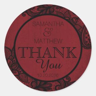 Étiquette moderne rouge de Merci de Goth de