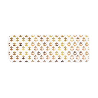 Étiquette Motif ambre d'ancres de texture