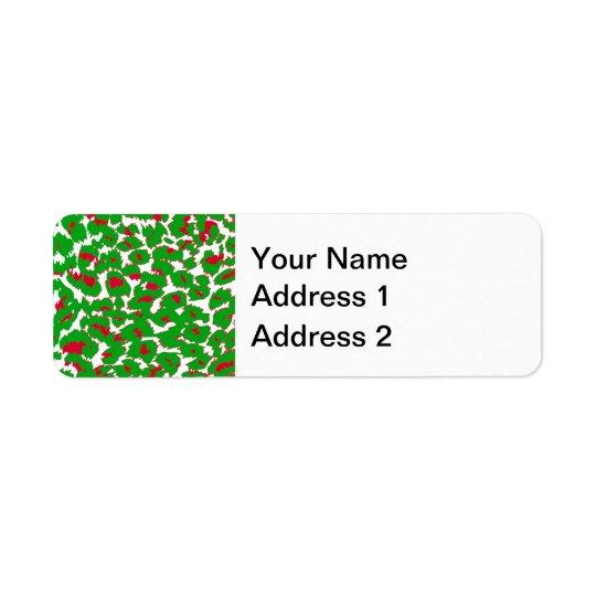 Étiquette Motif de taches de léopard de Noël