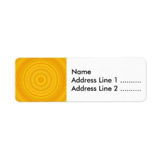 Étiquette Motif jaune et orange de cercle/anneau