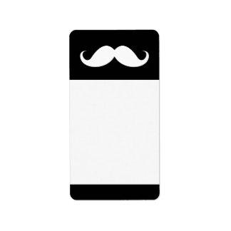 Étiquette Moustache blanche de guidon sur l'arrière - plan