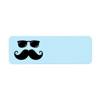Étiquette Moustache et visage drôles de lunettes de soleil