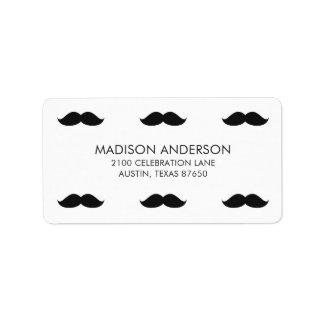 Étiquette Moustache noire drôle mignonne