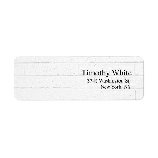 Étiquette Mur gris moderne minimaliste élégant simple