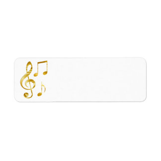 Étiquette musique d'or élégante de clef
