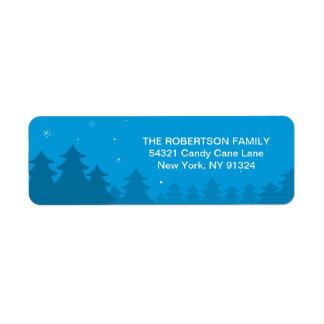 Étiquette Noël de grossesse venant à l'adresse de retour de