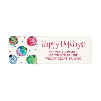 Étiquette Noël d'ornement de vacances