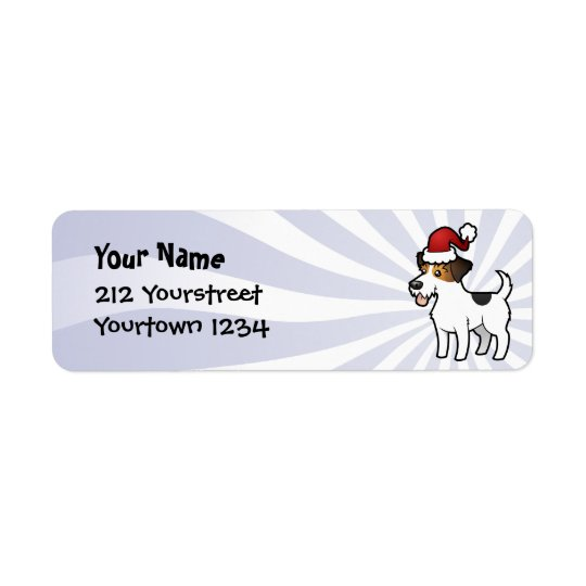 Étiquette Noël Jack Russell Terrier