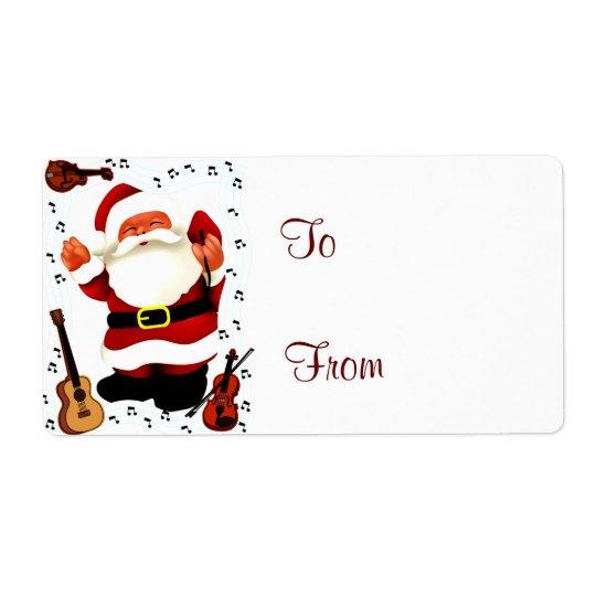 Étiquette Noël Joy_