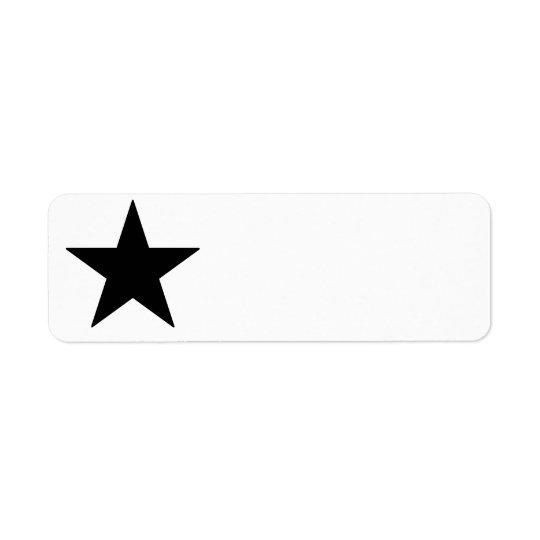 Étiquette noir d'étoile