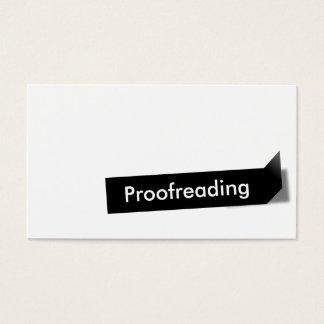 Étiquette noir moderne corrigeant sur épreuves le cartes de visite