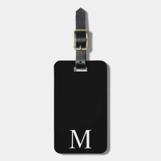 Étiquette noire et blanche moderne de bagage de étiquette à bagage