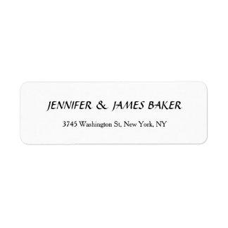 Étiquette Nom de famille élégant propre créatif unique blanc