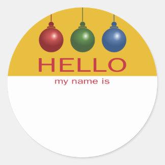 Étiquette nommée de Noël ou de fête de vacances