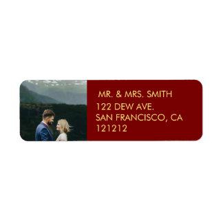 Étiquette Notre adresse de retour de première de Noël |
