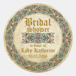 Étiquette nuptiale de douche de Goth de manuscrit