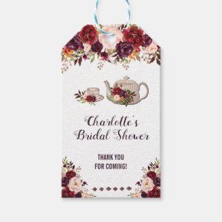 Étiquette nuptiale florale rustique de cadeau de