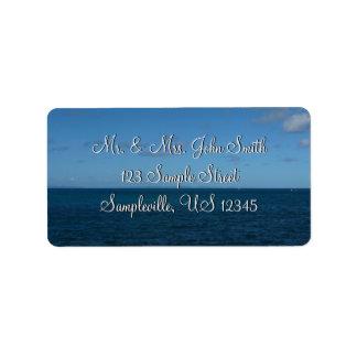 Étiquette Océan de bleu d'horizon du St Lucia