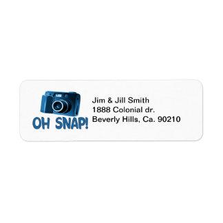 Étiquette Oh appareil-photo instantané