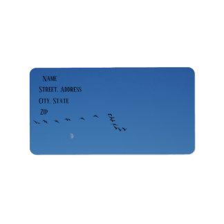 Étiquette Oies canadiennes en vol