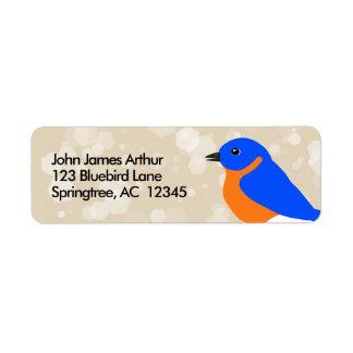 Étiquette Oiseau bleu oriental