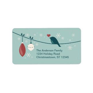 Étiquette Oiseau de vacances d'hiver