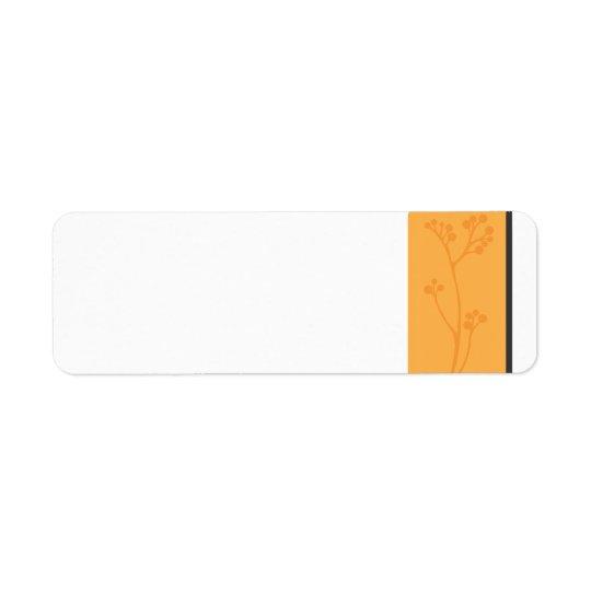 Étiquette OrangeFlower