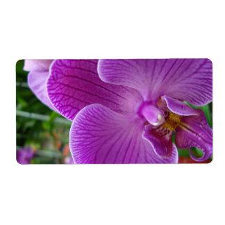 Étiquette Orchidée