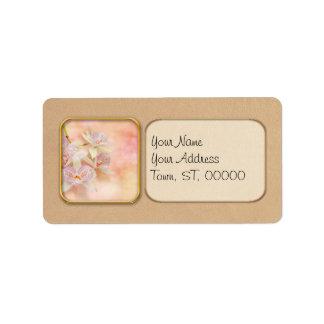 Étiquette Orchidée - Caulocattleya - le scintillement dans
