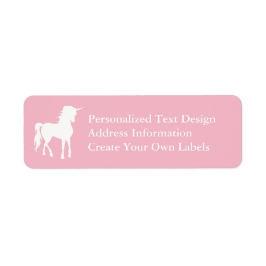 Étiquette Pâlissez - la licorne rose et blanche