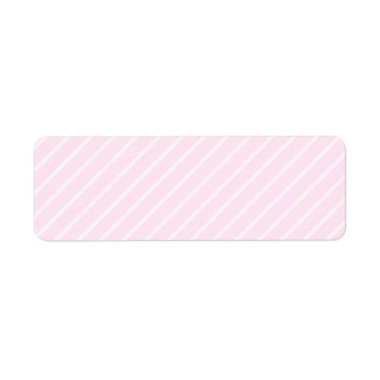 Étiquette Pâlissez - les rayures diagonales roses