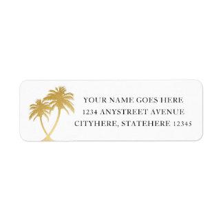 Étiquette Palmier d'or pour le mariage de destination de