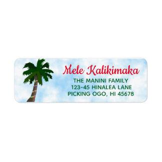 Étiquette Palmier hawaïen d'étiquettes de adresse de retour