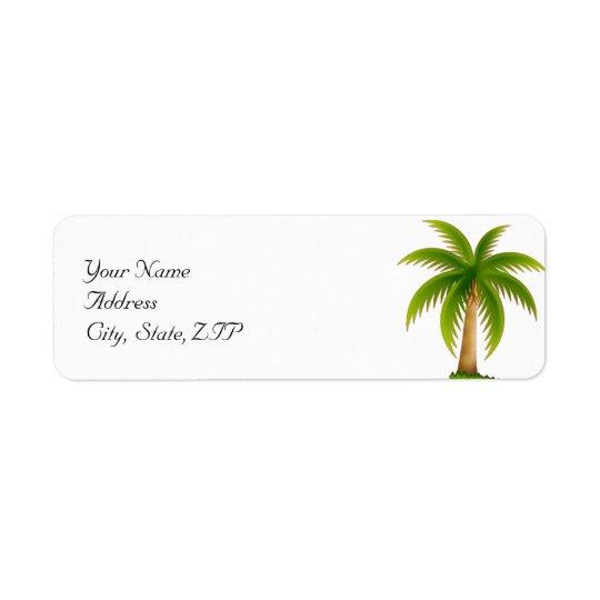 Étiquette Palmier tropical