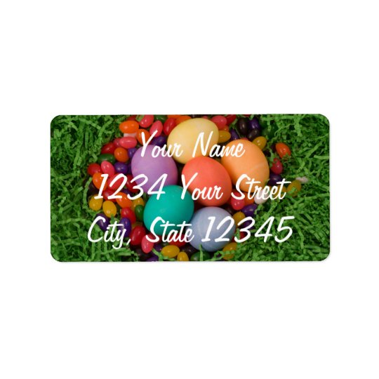 Étiquette Panier de Pâques - le ressort coloré Eggs des