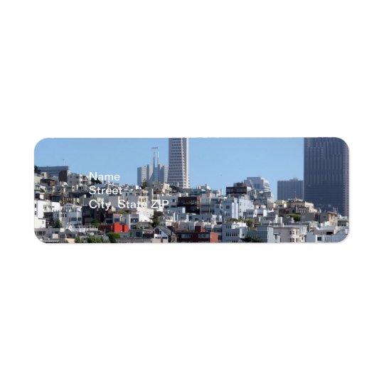 Étiquette Panorama de San Francisco