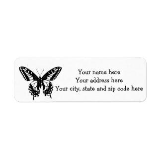 Étiquette Papillon