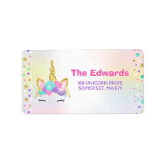 Étiquette Partie magique de licorne d'étiquettes de adresse