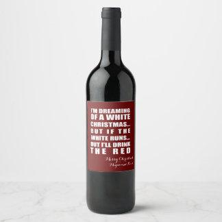 Étiquette personnalisé de bouteille de vin de Noël