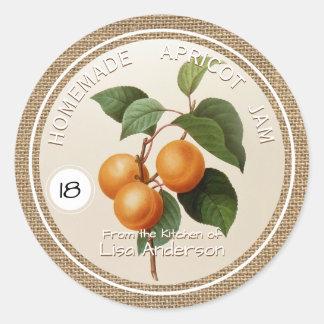 Étiquette personnalisé par confiture rustique