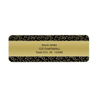 Étiquette Personnalisez :  soixante-dixième Adresse de