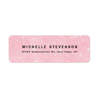 Étiquette Personnel minimaliste féminin rose moderne élégant