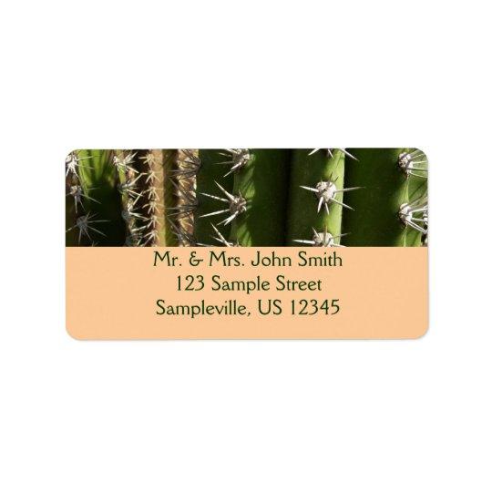 Étiquette Photo de nature de désert du cactus de baril II