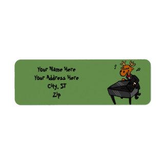 Étiquette Pianiste d'orignaux