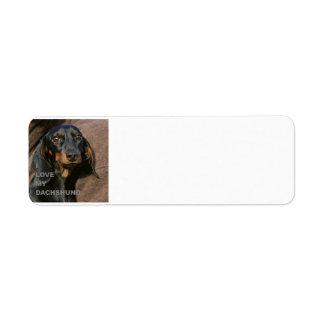 Étiquette PIC teckel-noire et bronzage de l'amour W